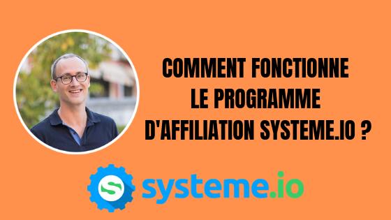 Comment fonctionne le programme d'affiliation systeme.io?